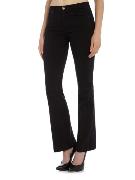 7 For All Mankind Charlize tailorless slim flare jean in black