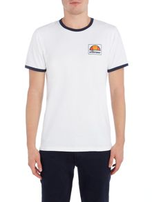 Ellesse Regular fit contrast collar printed logo t shirt