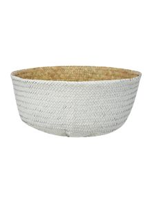 Bloomingville Seagrass Basket, Natural & White, Small