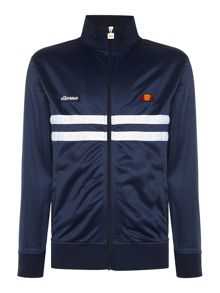 Ellesse Funnel neck full zip chest stripe logo track top