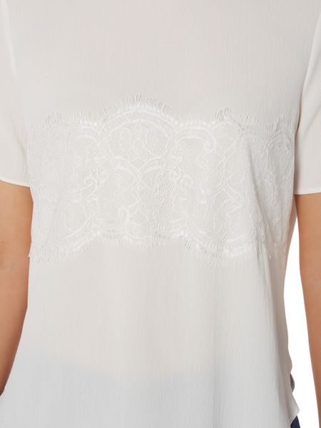 Therapy Ember Short Sleeve Lace Detail Top