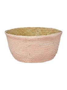 Bloomingville Seagrass basket, natural & rose, small