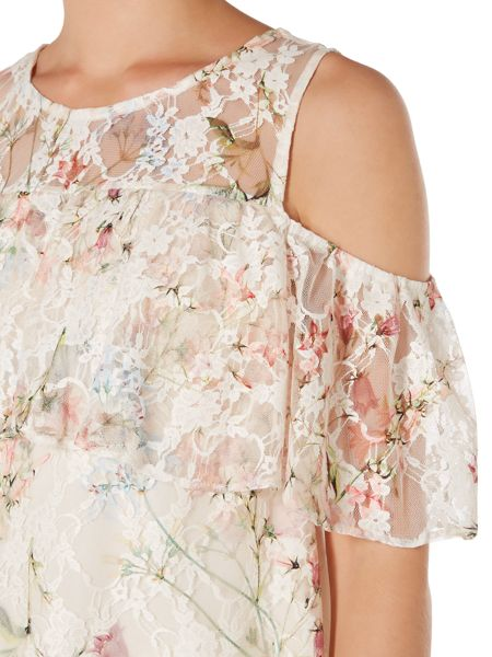 Therapy Harlyn Floral Lace Overlay Top
