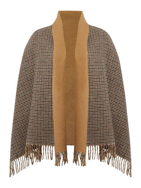 Max Mara Svago double faced wool check scarf