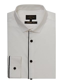 Walker skinny shirt with piping detail