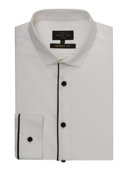 Label Lab Walker skinny shirt with piping detail