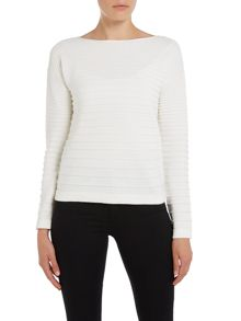 Oui Ribbed Laceup Back Jumper