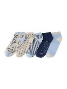 Linea 5 pack trainer socks