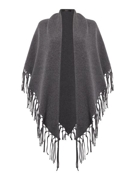 Max Mara Verna wool scarf with fringing