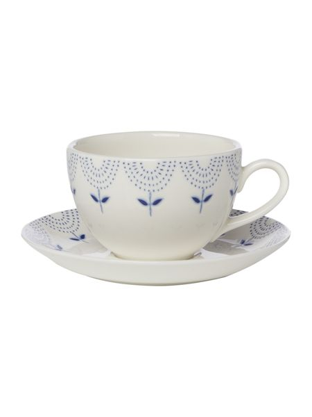 Linea Penzance porcelain teacup and saucer