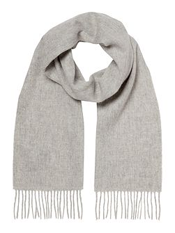 Plain brushed lambswool scarf