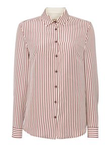 Max Mara Fedora long sleeve striped silk mix shirt