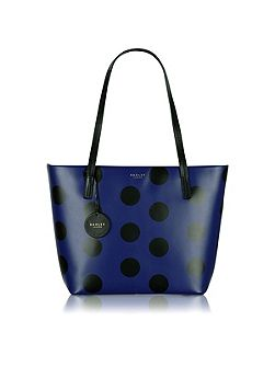 Rochester blue large ziptop tote bag