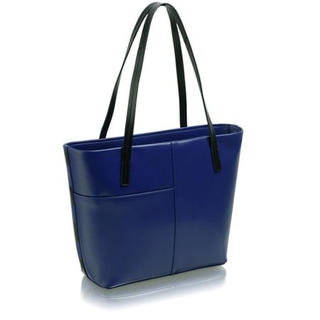 Radley Rochester blue large ziptop tote bag