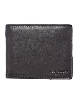 Metal Corner Leather Card and Coin Wallet