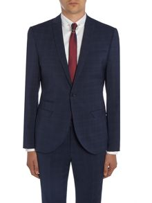 Label Lab Cash SB1 peak lapel check skinny suit jacket
