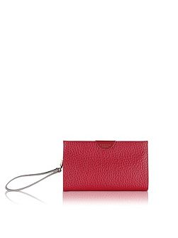 Abbey red small clutch bag