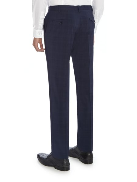 Label Lab Cash grid check skinny suit trouser