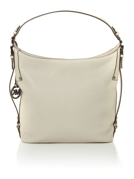 Michael Kors Bedford neutral belted hobo bag
