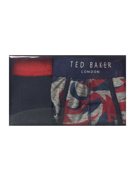 Ted Baker Central 3 Pack Assorted Print Socks