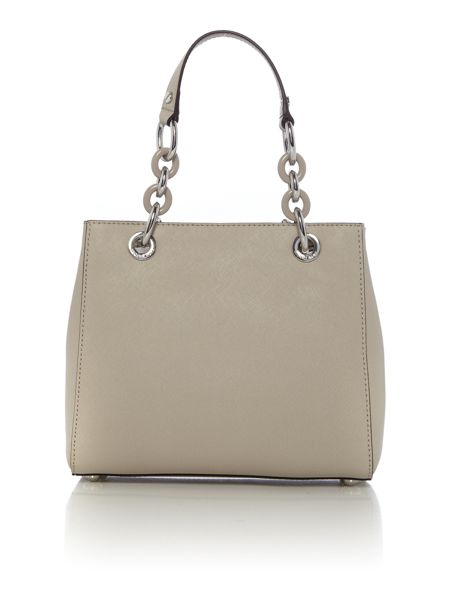 Michael Kors Cynthia neutral small tote bag