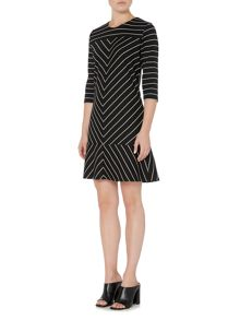 Therapy Ebony Chevron Peplum Dress