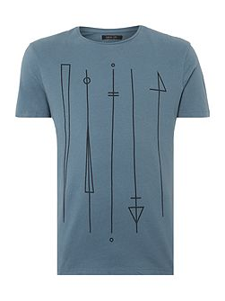 Symbols Stretch Text Graphic T-Shirt