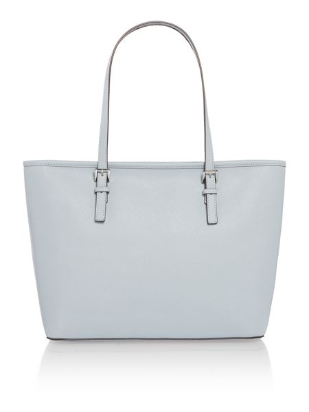 Michael Kors Jet set travel blue top zip tote bag
