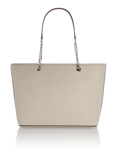 Michael Kors Jetset chain neutral top zip tote bag