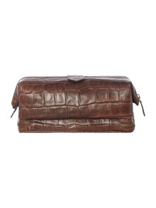 Ted Baker Arthur Croc Embossed Leather Washbag