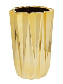 Bloomingville Porcelain gold vase