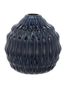 Bloomingville Ceramic navy vase