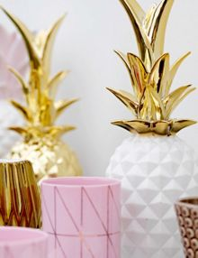 Bloomingville Deco gold pineapple