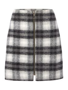 Therapy Faith Check Print Mini Skirt
