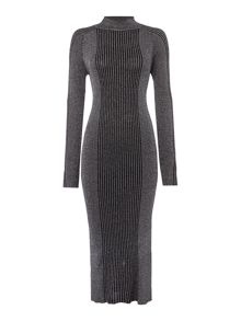Label Lab Alenda lurex knitted midi dress