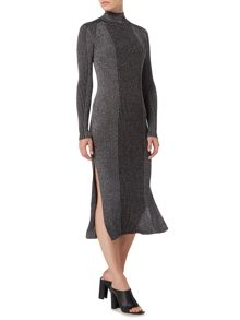 Label Lab Alenda metallised yarn knitted midi dress