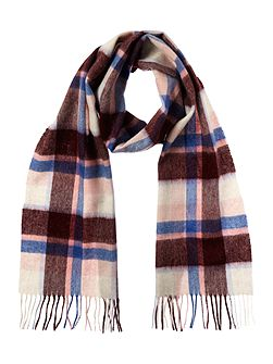 Cashmere blend country plaid scarf