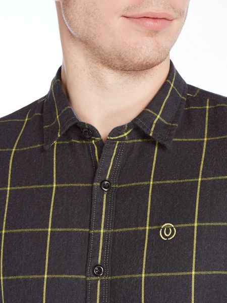 Duck and Cover Element window-pane check shirt