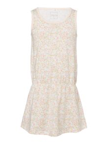 name it Girls Floral sleeveless Jersey Dress