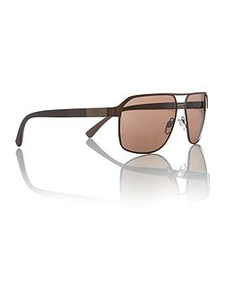 Brown rectangle EA2039 sunglasses