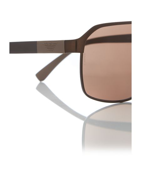 Emporio Armani Brown rectangle EA2039 sunglasses