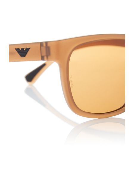 Emporio Armani Brown square EA4081 sunglasses