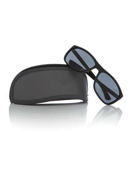 Emporio Armani Black rectangle EA4078 sunglasses