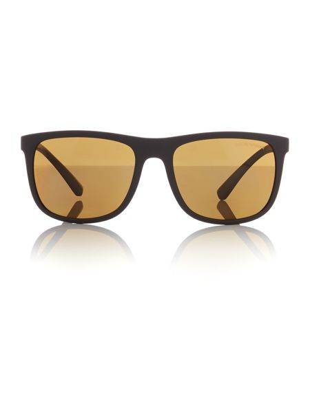 Emporio Armani Matte brown square EA4079 sunglasses