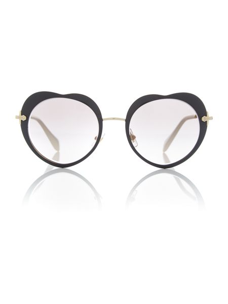 Miu Miu Black irregular 0MU 54RS sunglasses