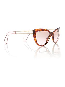 Havana cat eye 0MU 12RS sunglasses