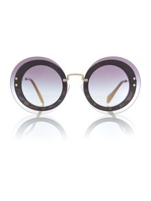 Miu Miu Black round 0MU 10RS sunglasses