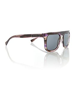 Striped violet square 0DG4288 sunglasses