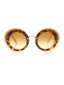 Miu Miu Light havana round MU 10RS sunglasses