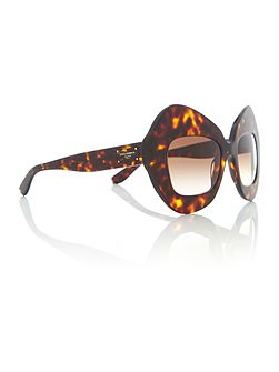Havana irregular 0DG4290 sunglasses